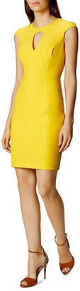 KAREN MILLEN Cutout Scuba Dress $340 thestylecure.com