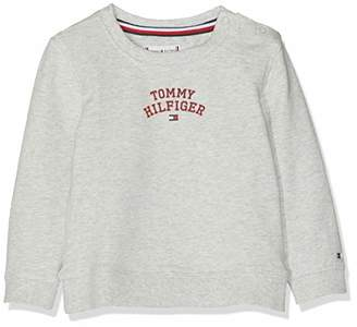 f3c074f0c444 Tommy Hilfiger Baby Girls  Essential Logo Sweatshirt Light Grey HTR 023