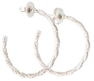 John Hardy Diamond Classic Chain Hoop Earrings