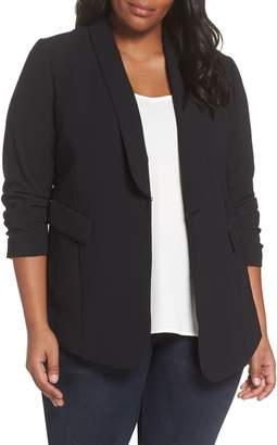 Sejour Gathered Sleeve Blazer