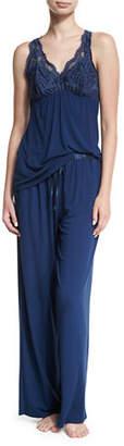Fleurt Fleur't Belle Epoque Lace-Inset Pajama Set