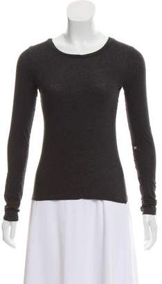 Theory Long Sleeve Crew Neck Top