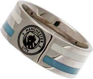 Manchester City Stainless Steel Man City Striped Ring