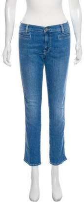 MiH Jeans Mid-Rise Straight-Leg Jans