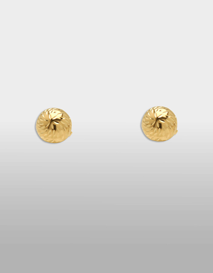 LORD & TAYLOR 14 Kt. Yellow Gold Textured Ball Earrings