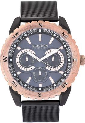 Kenneth Cole Reaction 10030938 Gunmetal & Rose Gold Mesh Watch
