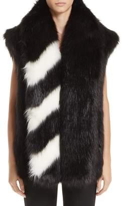 Off-White Faux Fur Gilet Vest