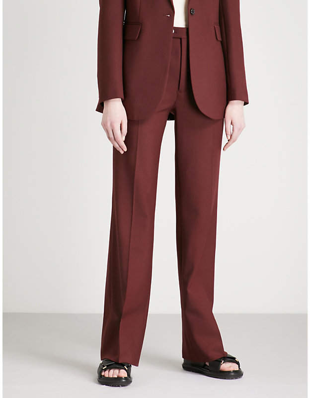 Tropez flared wool-blend trousers
