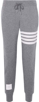 Thom Browne Striped Knitted Track Pants - Gray