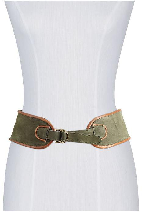 Anne Klein Hive & Honey Wide Suede Waist