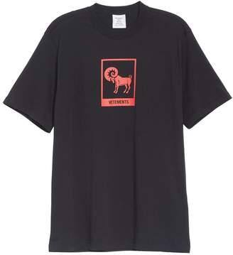 Vetements aries horoscope tee shirt black