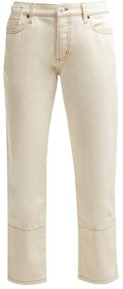 Marni Mid Rise Cropped Jeans - Womens - Cream