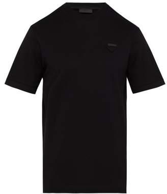 Prada Logo Pique T Shirt - Mens - Black