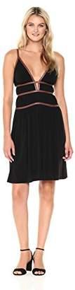 BCBGMAXAZRIA Azria Women's Lillie V-Neck Strap Detail Knit Dress