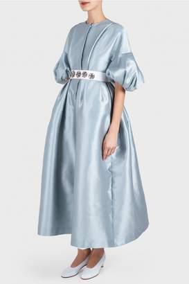 Dice Kayek Bubble Short Sleeve Dress