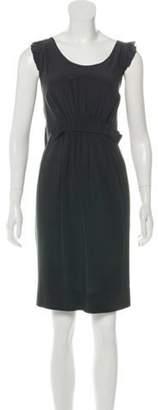 Stella McCartney Sleeveless Silk Ruffle Trim Dress Sleeveless Silk Ruffle Trim Dress