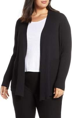 Eileen Fisher Mix Rib Wool Cardigan