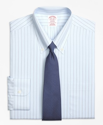 Brooks Brothers Madison Classic-Fit Dress Shirt, Non-Iron Hairline Bold Stripe