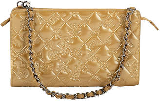 c46d039e91ab One Kings Lane Vintage Chanel Gold Patent Embossed Evening Bag - Vintage Lux