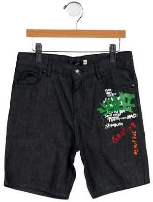 Junior Gaultier Boys' Denim Bermuda Shorts w/ Tags