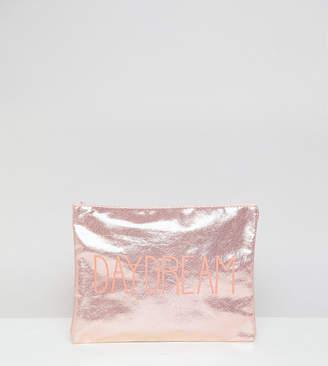 South Beach Daydream Metallic Pink Zip Top Pouch