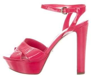 Sergio Rossi Crossover Platform Sandals
