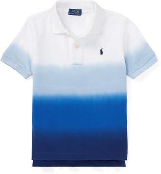 Ralph Lauren Dip-Dye Short-Sleeve Polo, Size 5-7