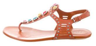 Gucci Embellished Ankle Strap Sandals