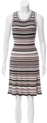 Milly Striped Knee-Length Dress