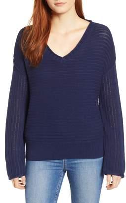 Caslon Tuck Stitch V-Neck Sweater