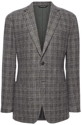 Banana Republic Slim Plaid Wool-Blend Blazer