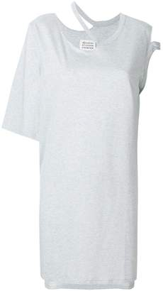 Maison Margiela asymmetric cut out T-shirt