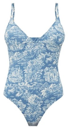 Belize - Joan Tropical Print Swimsuit - Womens - Blue Print