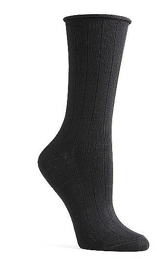 Ellen Tracy Women's Cotton Silk Duet Dress Socks Panty Hose