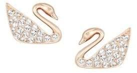 Swarovski Swan Crystal Stud Earrings