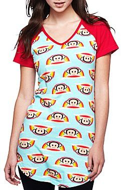 Paul Frank Raglan-Sleeve Nightshirt