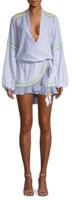 Rococo Sand Striped Wrap Dress