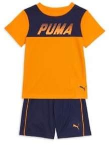 Puma Little Boy's Two-Piece T-Shirt & Shorts Set