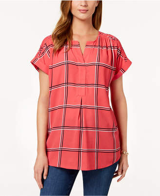 Charter Club Printed Popover Top