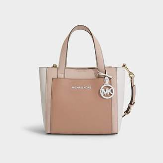 MICHAEL Michael Kors Zipped Around Coin Card Case In Soft Pink Mercer Pebble Leather