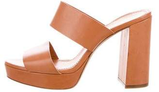 Mansur Gavriel Leather Slide Sandals