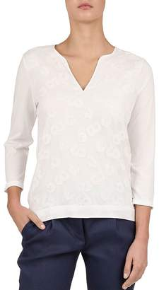 Gerard Darel Vitalys Rosette Appliqué Top