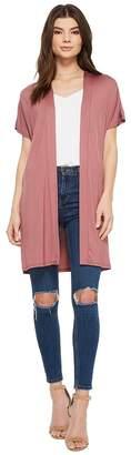American Rose Hensley Short Sleeve Cardigan Women's Sweater