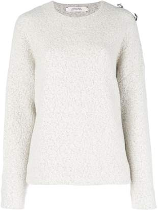 Schumacher Dorothee brooch embellished drop-shoulder sweater
