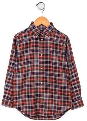 Ralph Lauren Boys' Plaid Button- Up Shirt w/ Tags