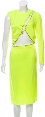 Versus One-Shoulder Knee-Length Dress