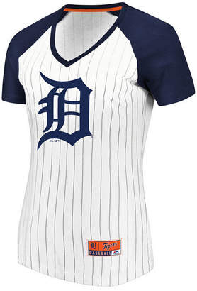 Majestic Women's Detroit Tigers Every Aspect Pinstripe T-Shirt