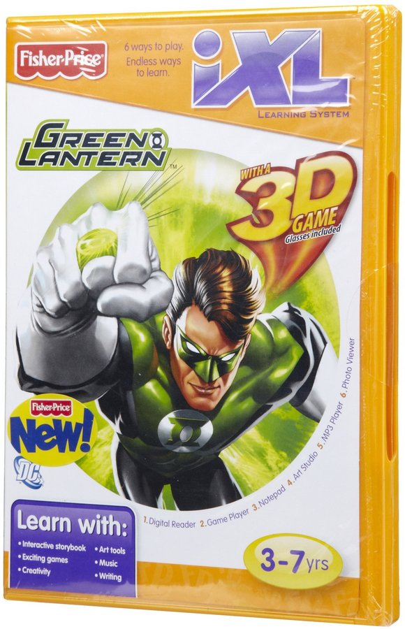 Fisher-Price iXL Learning System Software - Green Lantern 3D