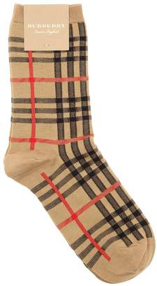 Burberry Check Cotton & Nylon Socks