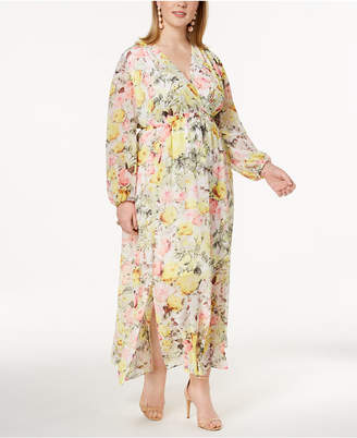 INC International Concepts I.n.c. Plus Size Printed Maxi Dress, Created for Macy's
